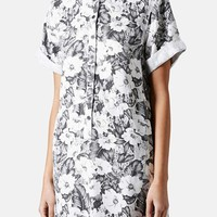 Topshop 'Aloha' Print Shirt Dress