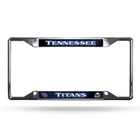 Tennessee Titans License Plate Frame Chrome EZ View
