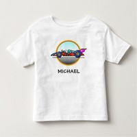 Racecar Race Car Custom Kids Tshirt