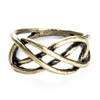 Brandy ♥ Melville |  Brass Infinity Ring - Just In