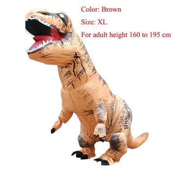 T-REX INFLATABLE  Dinosaur Costume Fancy Dress Cosplay Animal Jumpsuit Halloween Costumes of Men Carnival
