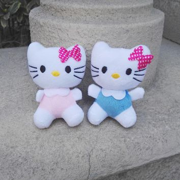 Kawaii Lovely Sitting 8CM 2Colors - CAT Stuffed Figure Toy , Stuffed String Plush Toy Doll ; Soft Toys for Bouquet