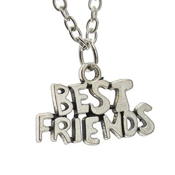 Silver Best Friends Pendant Necklace