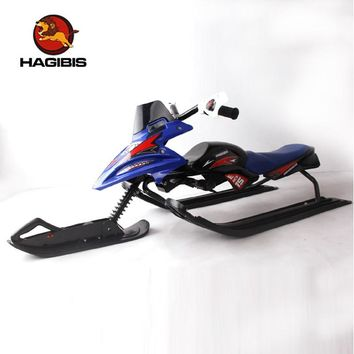 Snow Scooter With Safe Brake Snow Sled Snowmobile With Automatic Retractable Tow Leash System