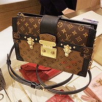 Louis Vuitton LV Women Personality Shopping Bag Leather Shoulder Bag Crossbody Satchel