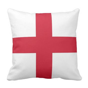 England Flag on American MoJo Pillow