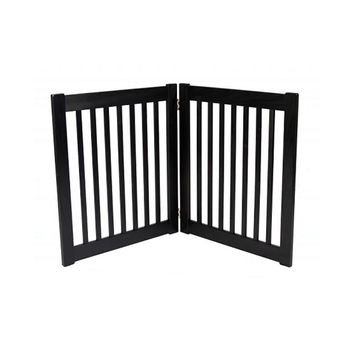 """Two 27"""""""" Panel Free Standing EZ Pet Gate in Black"""