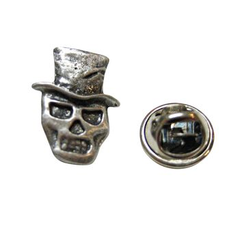 Skull with Hat Lapel Pin