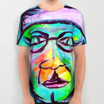 Man in color All Over Print Shirt by Yuval Ozery