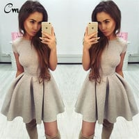 2017 NEW Sexy Party Princess Dresses Women Open Back O-neck Ball Gown Dresses Autumn Bowknot Backless Bandage Vestidos Robes