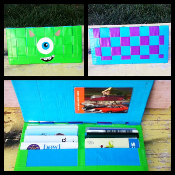 Monsters INC. Duct tape wallet