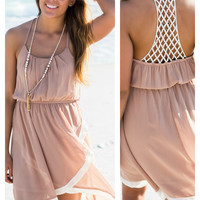 Sandy Daze Taupe Sundress