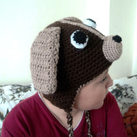 French Bulldog hats for babies and kids, Fleece lined crochet hats, Cosplay costume for party, beagle hat, Christmas gift, PuppyMOD501