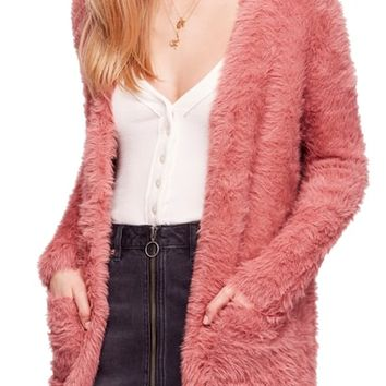Free People Faux Fur Cardigan | Nordstrom