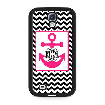 Monogram Anchor Wallpaper Samsung Galaxy S4 Case