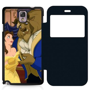Beauty and the Beast Cartoon Leather Wallet Flip Case Samsung Galaxy Note 3