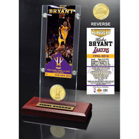 Kobe Bryant Final Season Ticket & Bronze Coin Acrylic Desk Top