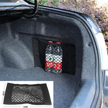 Car Trunk to receive store content bag storage network Net Seat Storage Mesh Pocket Sticker Trunk Strong Magic Tape