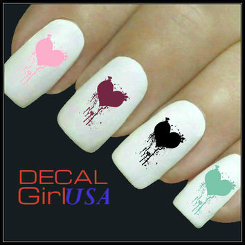 Heart Nail Art Decals 32 Heart Nail Decals