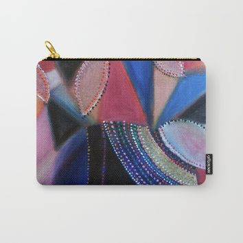 Round Vase 1 Carry-All Pouch by letgofyourcolours