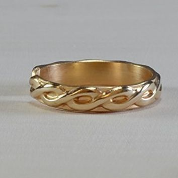 14k solid gold toe ring