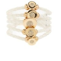 Braided Faux Leather Cuff Bracelet by Charlotte Russe - Gold
