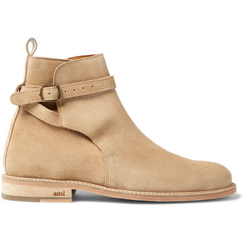 AMI - Buckled Suede Boots