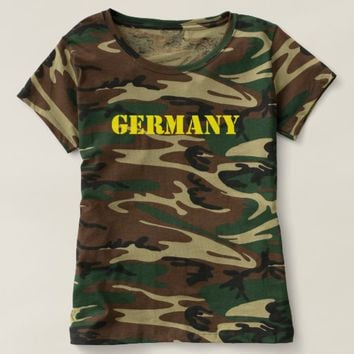 Germany/Deutschland (Tarn Damen/ Women) T-shirt
