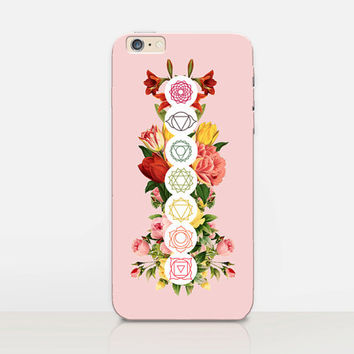 Floral Chakras Phone Case  - iPhone 6 Case - iPhone 5 Case - iPhone 4 Case - Samsung S4 Case - iPhone 5C - Tough Case - Matte Case