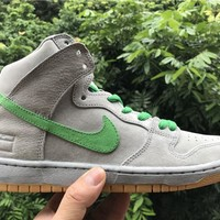 Nike Dunk High Sb Premium Silver Box 313171-039 Size 36--45