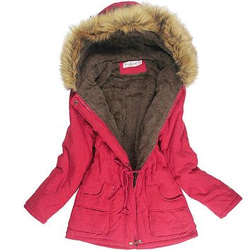 Winter Jacket Women Faux Fur Collar Womens Coats Long Down Parka Lady Hoodies Parkas Warmer Classical Jackets