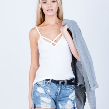 Criss Cross Knit Tank