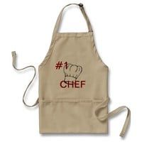 APRON CHEFS APRON FOR #1 CHEF KHAKI