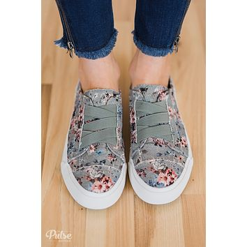 Blowfish Marley Floral Sneakers- Drizzle Gray