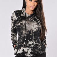 Splatter Top - Black