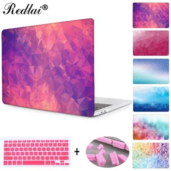 "Laptop Case For Apple MacBook Air Pro Retina 11 12 13 15 For Mac Book New Pro 13 15"" with Touch Bar Geometric Print Hard Cover"