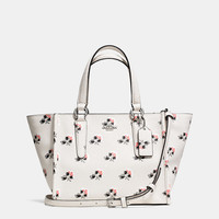 CROSBY MINI CARRYALL IN PRINTED CROSSGRAIN LEATHER