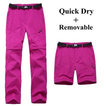 Women Quick Dry Removable Pants Outdoor Trouser Female Fishing Trekking Pants Breathable Quick-drying pants