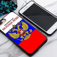 Russian Flag World Cup 2018 Best Case For iPhone 6 6s 6+ 6s+ 7 7+ 8 8+ X Cover