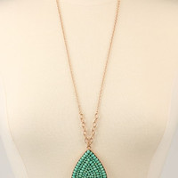 Beaded Drop Pendant