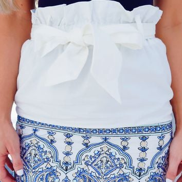 Never Lost Skirt: White/Multi