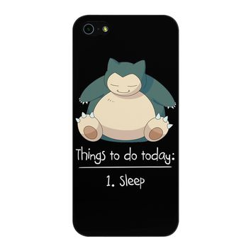 Things To Do Today Sleep Pokemon Snorlax iPhone 5/5S/SE Case