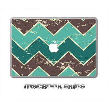 Vintage Green Chevron V4 Skin for the 11, 13 or 15 inch MacBook