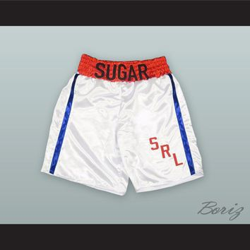 Sugar Ray Leonard White Boxing Shorts