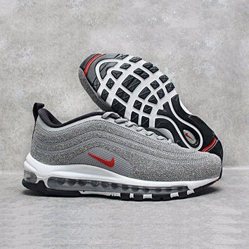 MDIGU3S Sale Nike Air Max 97 LX Swarovski Crystal METALLIC Silver Bullet Running Shoes Sport Shoes 927508-001