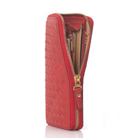 Leather Bags Ladies Zippers Handcrafts Wallet [9026232515]