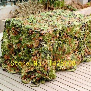 Sunshade cloth Outdoor Hunting Camping  Woodlands  Forest Camouflage Camo Net Military Car Shade Cloths Cover Various Size