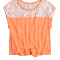 Lace Tie Front Tee