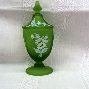 Westmoreland Satin Green Candy Dish