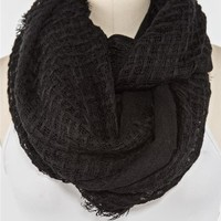 Frayed Oblong Scarf